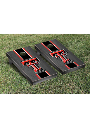 Texas Tech Red Raiders Onyx Stained Stripe Version Cornhole Tailgate Game