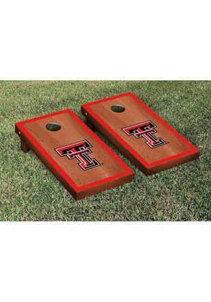Texas Tech Red Raiders Rosewood Stained Border Version Cornhole Tailgate Game
