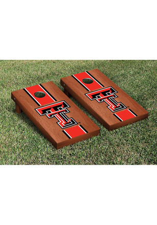 Texas Tech Red Raiders Rosewood Stained Stripe Version Cornhole Tailgate Game