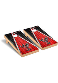 Texas Tech Red Raiders Triangle Weathered Version Cornhole Tailgate Game