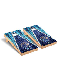 Villanova Wildcats Triangle Weathered Version Cornhole Tailgate Game