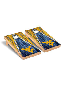 West Virginia Mountaineers Triangle Weathered Version Cornhole Tailgate Game