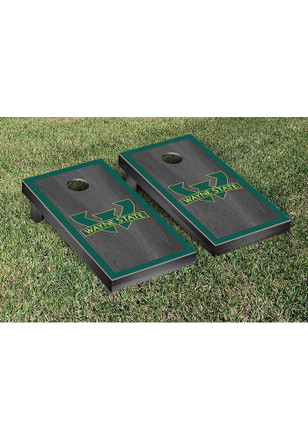 Wayne State Warriors Onyx Stained Border Version Cornhole Tailgate Game