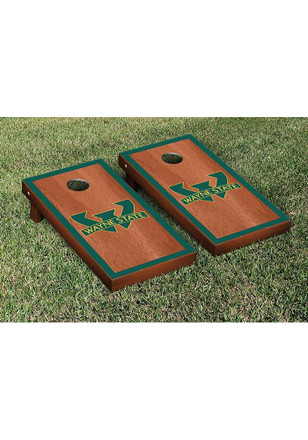 Wayne State Warriors Rosewood Stained Border Version Cornhole Tailgate Game