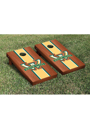 Wayne State Warriors Rosewood Stained Stripe Version Cornhole Tailgate Game