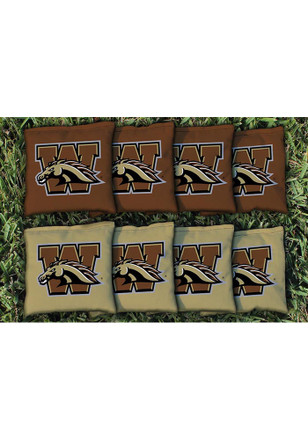 Western Michigan Broncos All Weather Cornhole Bags Tailgate Game