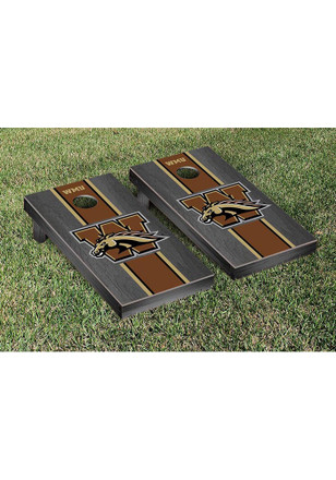 Western Michigan Broncos Onyx Stained Stripe Version Cornhole Tailgate Game