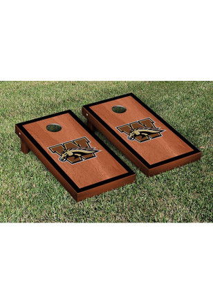 Western Michigan Broncos Rosewood Stained Border Version Cornhole Tailgate Game