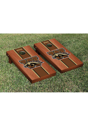 Western Michigan Broncos Rosewood Stained Stripe Version Cornhole Tailgate Game