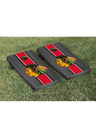 Chicago Blackhawks Onyx Stained Stripe Version Cornhole Tailgate Game