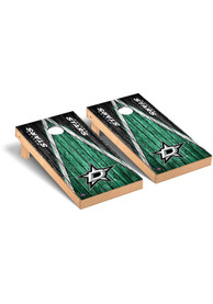 Dallas Stars Weathered Triangle Version Cornhole Tailgate Game