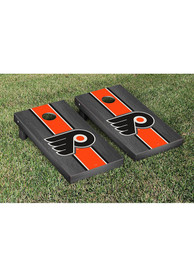 Philadelphia Flyers Onyx Stripe Version Cornhole Tailgate Game
