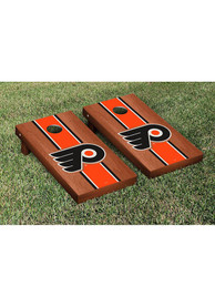 Philadelphia Flyers Rosewood Stripe Version Cornhole Tailgate Game