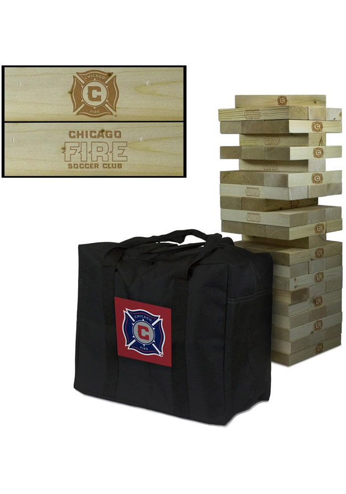 Chicago Fire Giant Wooden Tumble Tower Game - Image 1