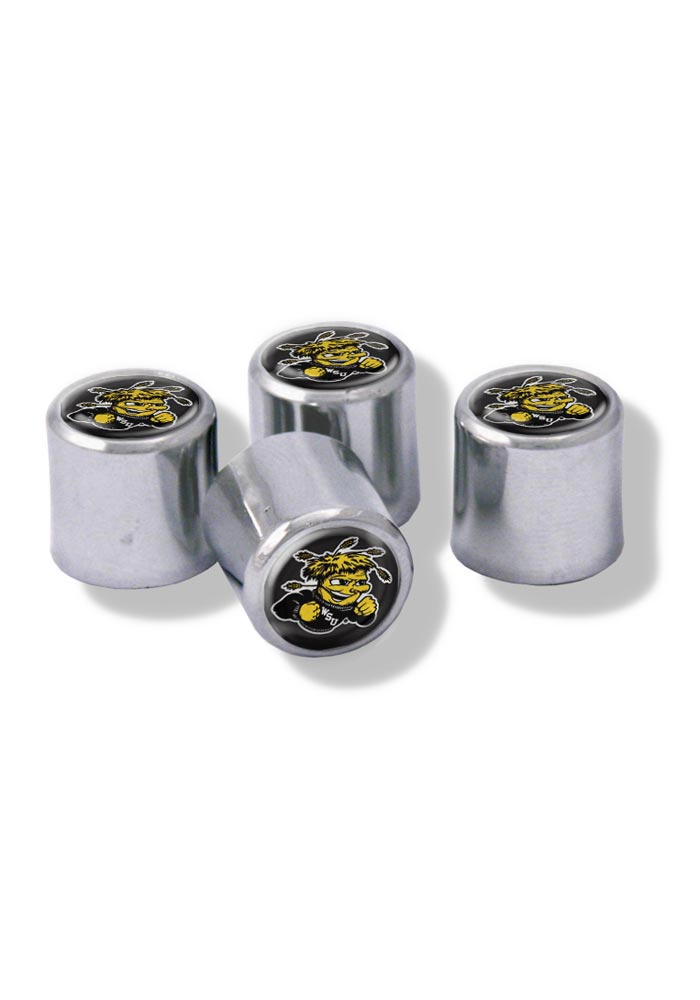Wichita State Shockers 4 Pack Auto Accessory Valve Stem Cap - Image 1