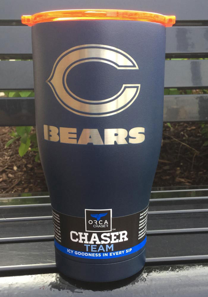 Chicago Bears ORCA Chaser 27oz Laser Etched Logo Stainless Steel Tumbler - Navy Blue - Image 2