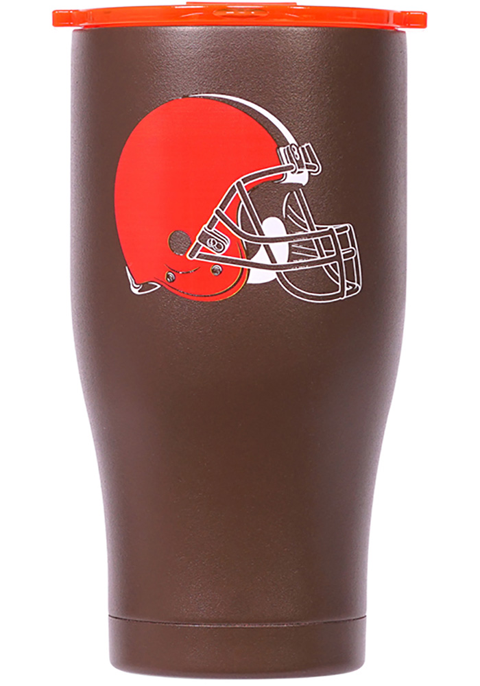 Cleveland Browns ORCA Chaser 27oz Color Logo Stainless Steel Tumbler - Brown - Image 1