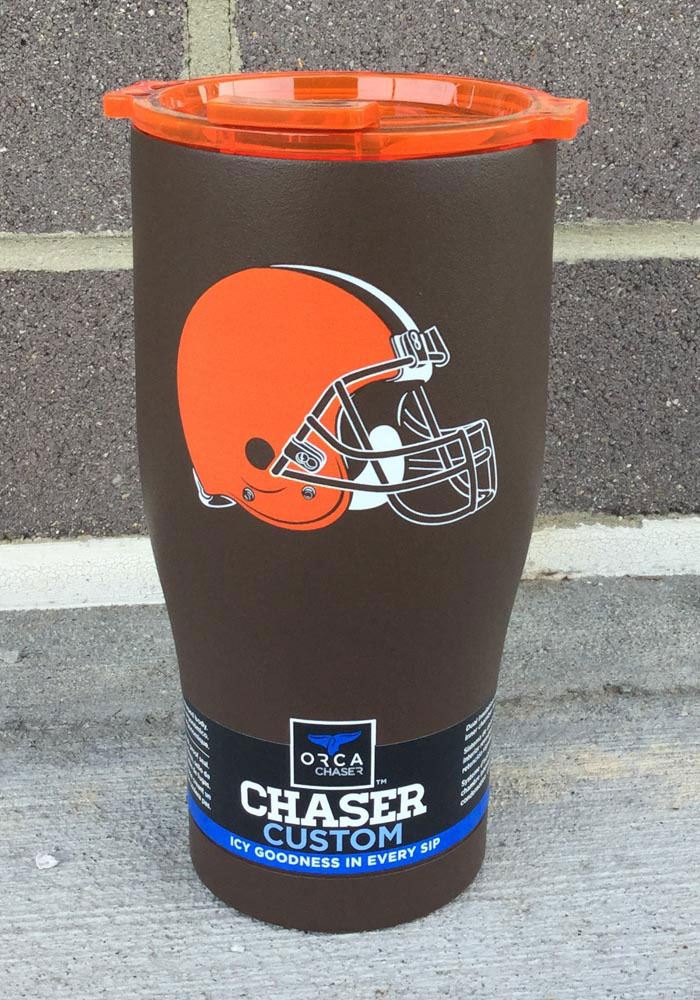 Cleveland Browns ORCA Chaser 27oz Color Logo Stainless Steel Tumbler - Brown - Image 2