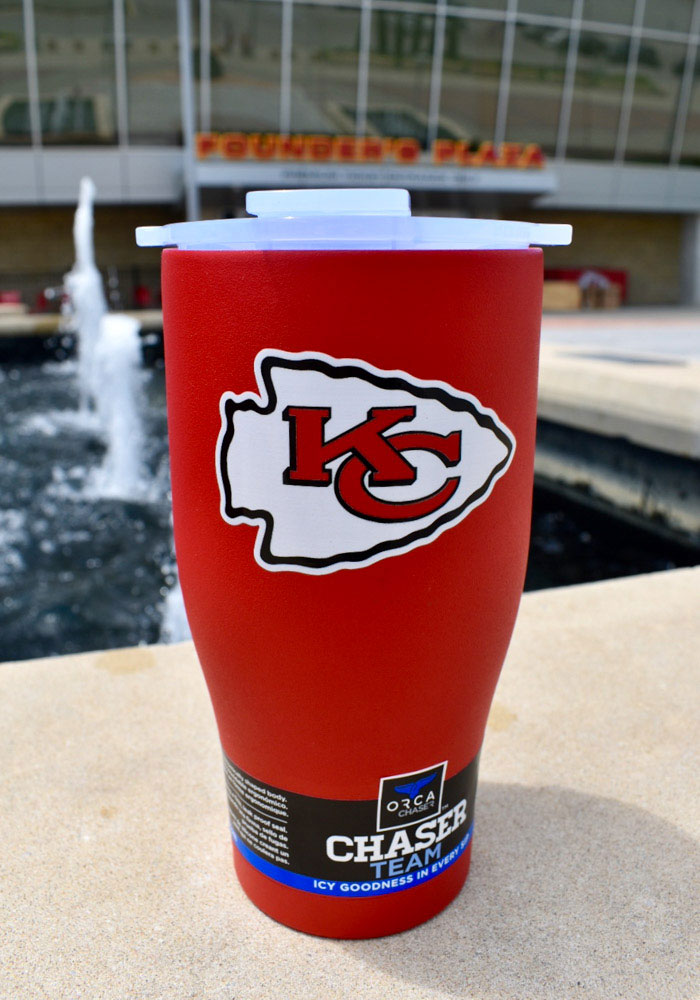 Kansas City Chiefs ORCA Chaser 27oz Color Logo Stainless Steel Tumbler - Red - Image 2