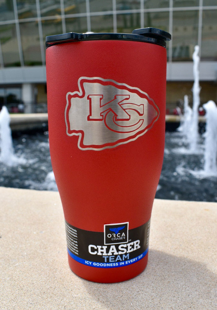 Kansas City Chiefs ORCA Chaser 27oz Laser Etched Logo Stainless Steel Tumbler - Red - Image 2