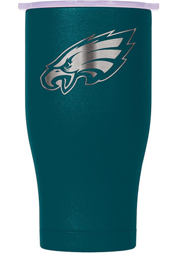 Philadelphia Eagles ORCA Chaser 27oz Laser Etched Logo Stainless Steel Tumbler - Midnight Green - Image 1