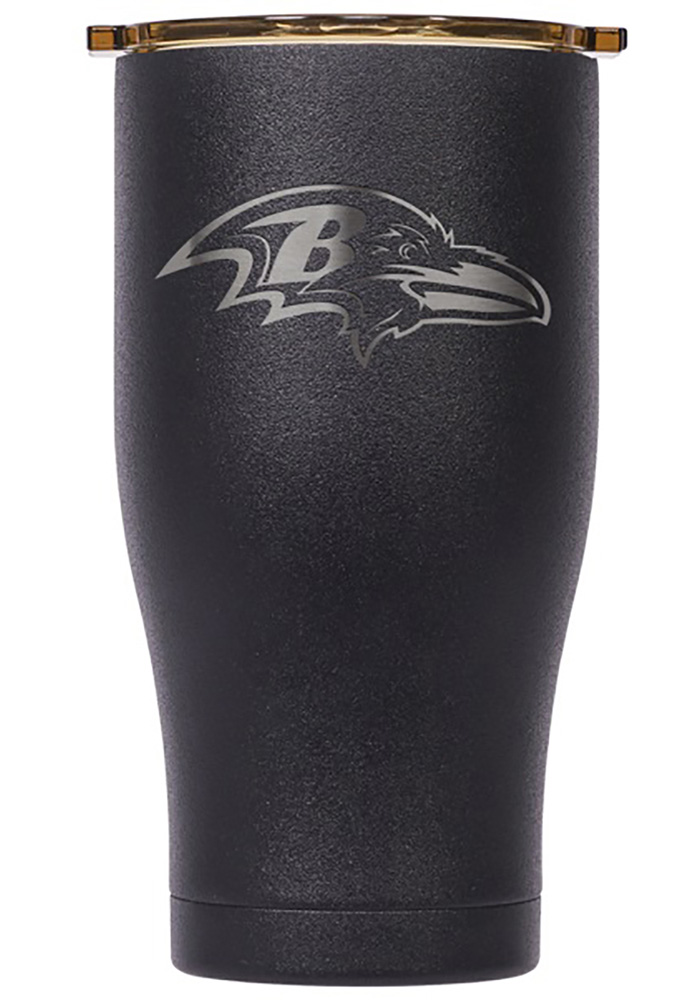 Baltimore Ravens ORCA Chaser 27oz Etch Stainless Steel Tumbler - Black - Image 1