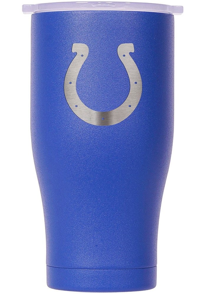 Indianapolis Colts ORCA Chaser 27oz Etch Stainless Steel Tumbler - Blue - Image 1