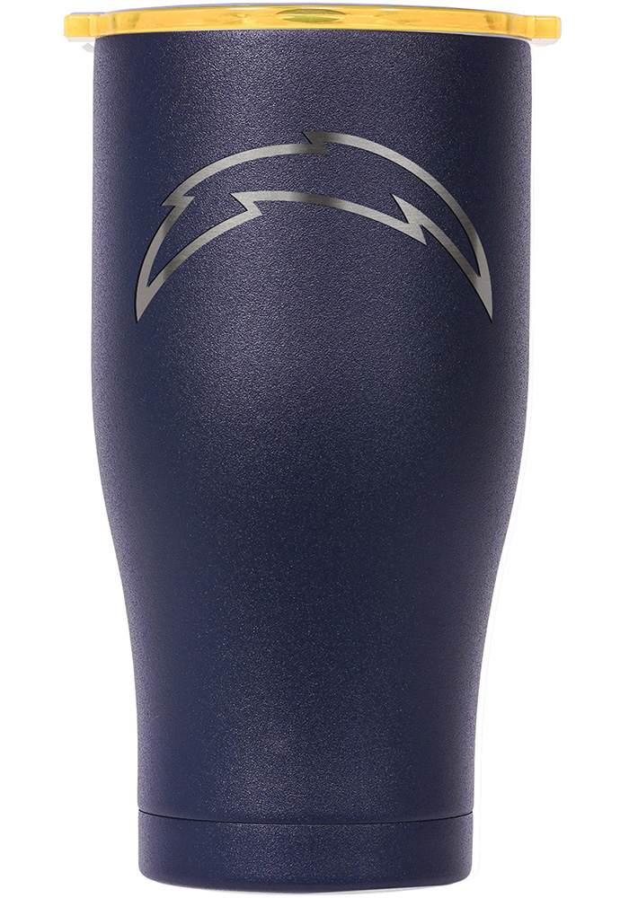 Los Angeles Chargers ORCA Chaser 27oz Etch Stainless Steel Tumbler - Navy Blue - Image 1