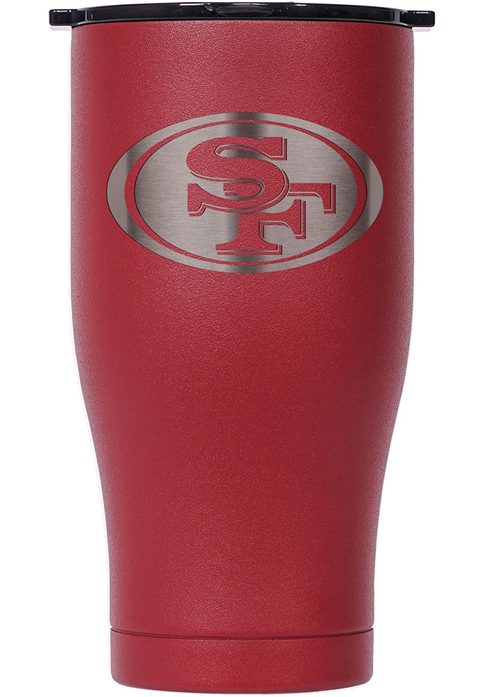 San Francisco 49ers ORCA Chaser 27oz Etch Stainless Steel Tumbler - Red - Image 1