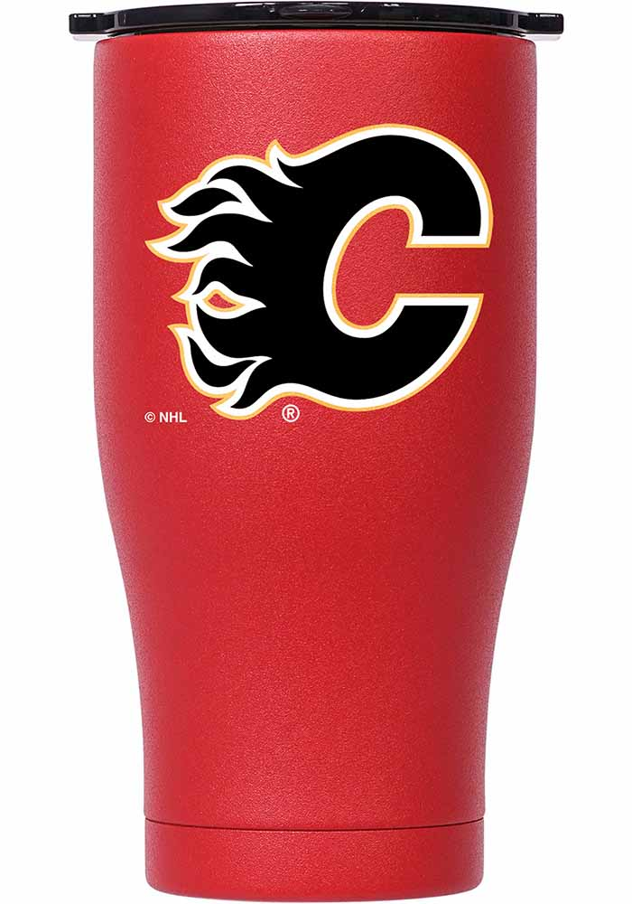 Calgary Flames ORCA Chaser 27oz Full Color Stainless Steel Tumbler - Red - Image 1