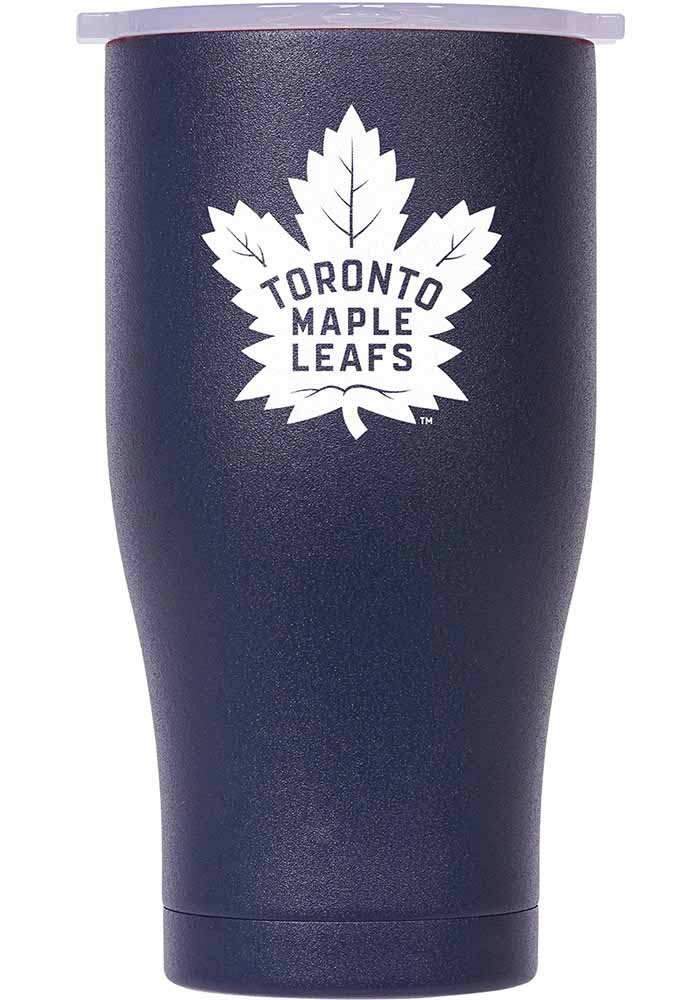 Toronto Maple Leafs ORCA Chaser 27oz Full Color Stainless Steel Tumbler - Navy Blue - Image 1
