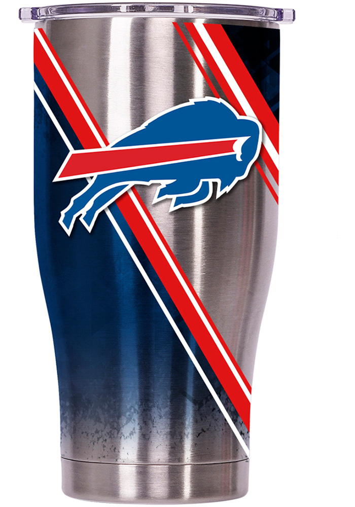 Buffalo Bills ORCA Chaser 27oz Full Wrap Stainless Steel Tumbler - Silver - Image 1