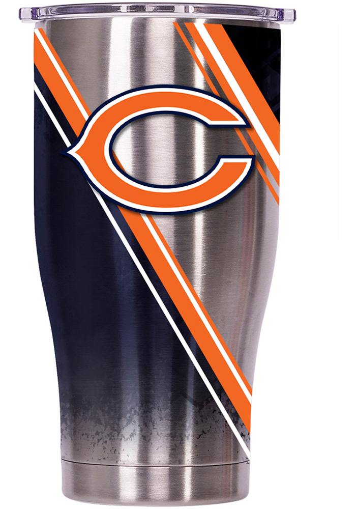Chicago Bears ORCA Chaser 27oz Full Wrap Stainless Steel Tumbler - Silver - Image 1