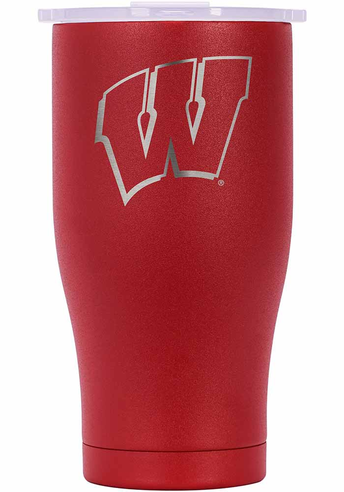 Wisconsin Badgers ORCA Chaser 27oz Etch Stainless Steel Tumbler - Red - Image 1