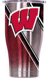 Wisconsin Badgers ORCA Chaser 27oz Full Wrap Stainless Steel Tumbler - Silver