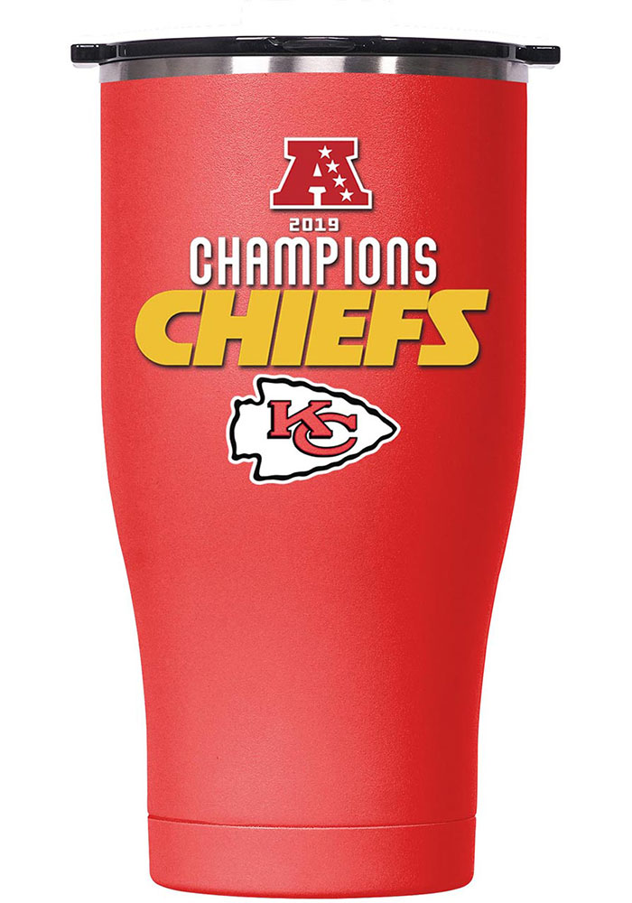 Kansas City Chiefs AFC Champ 27 oz Chaser Stainless Steel Tumbler - Red - Image 1