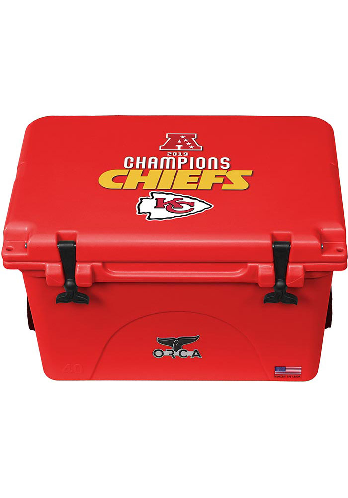 Kansas City Chiefs 2019 AFC Champions ORCA 40 Quart Cooler - Image 1