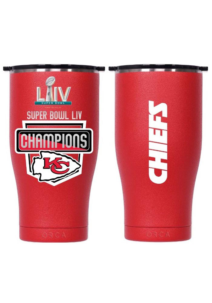 Kansas City Chiefs Super Bowl LIV Champions Chaser 27oz Stainless Steel Tumbler - Red - Image 1