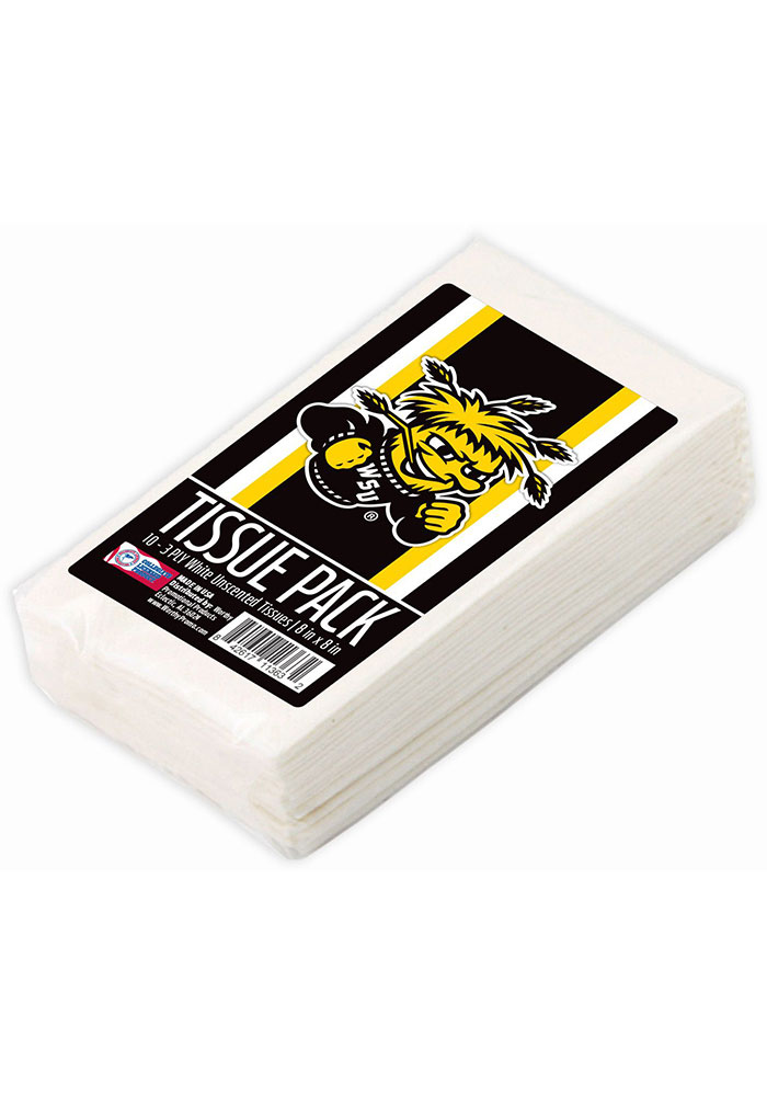 Wichita State Shockers 3-Ply Unscented Tissue Box - Image 1
