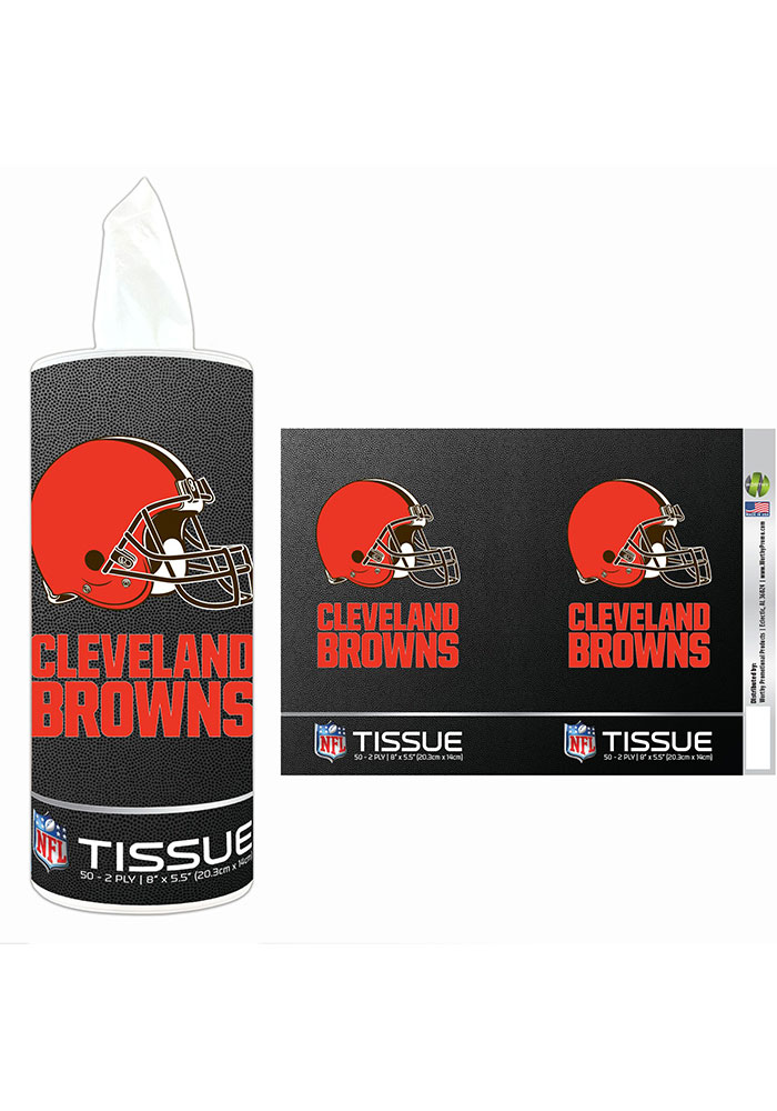 Cleveland Browns Cylinder Tissue Box - Image 1