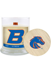 Boise State Broncos Citrus 8oz Glass White Candle