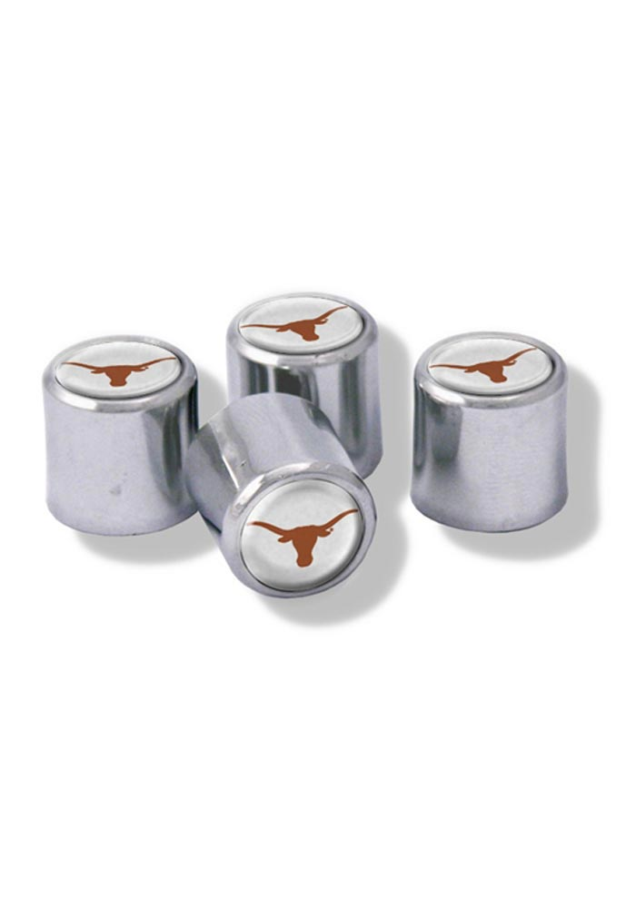 Texas Longhorns 4 Pack Auto Accessory Valve Stem Cap - Image 1