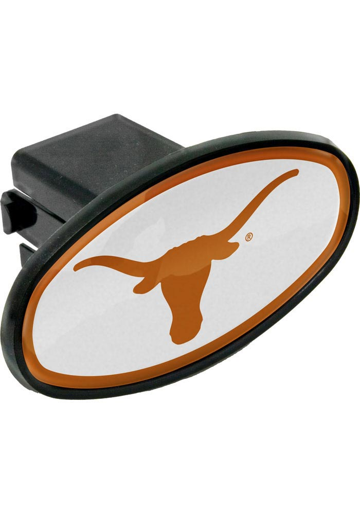 Texas Longhorns Plastic Oval Car Accessory Hitch Cover - Image 1