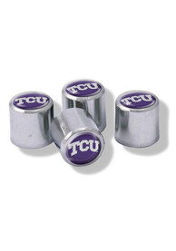 TCU Horned Frogs 4 Pack Auto Accessory Valve Stem Cap