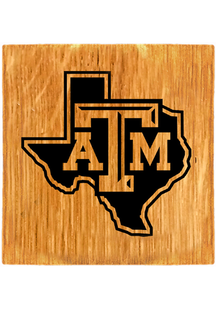 Texas A&M Aggies Barrel Stave State Logo Coaster