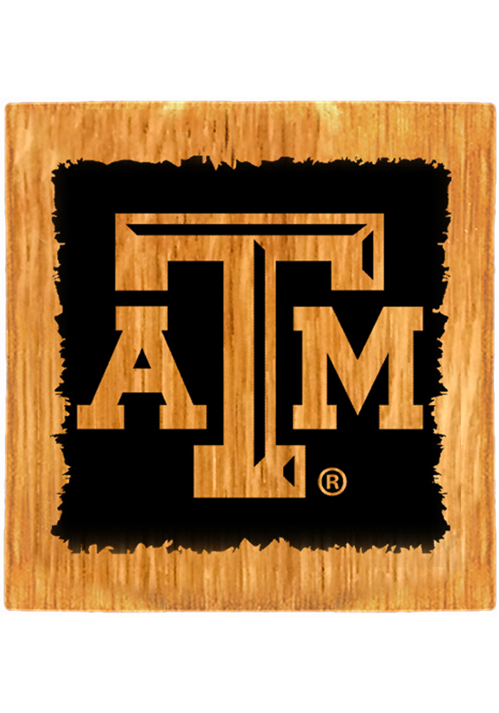 Texas A&M Aggies Barrel Stave Light Logo Coaster