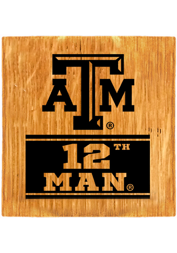 Texas A&M Aggies Barrel Stave Slogan Coaster - Image 1