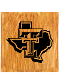 Texas Tech Red Raiders Barrel Stave State Logo Coaster