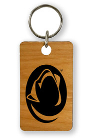 Penn State Nittany Lions Alder Wood 1.5x2.5 Laser Etched Keychain