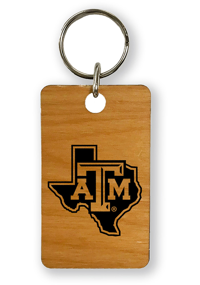 Texas A&M Aggies Alder Wood 1.5x2.5 Laser Etched Keychain